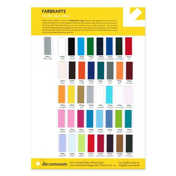 Farbkarte Flex FXP - dünn - OPAK