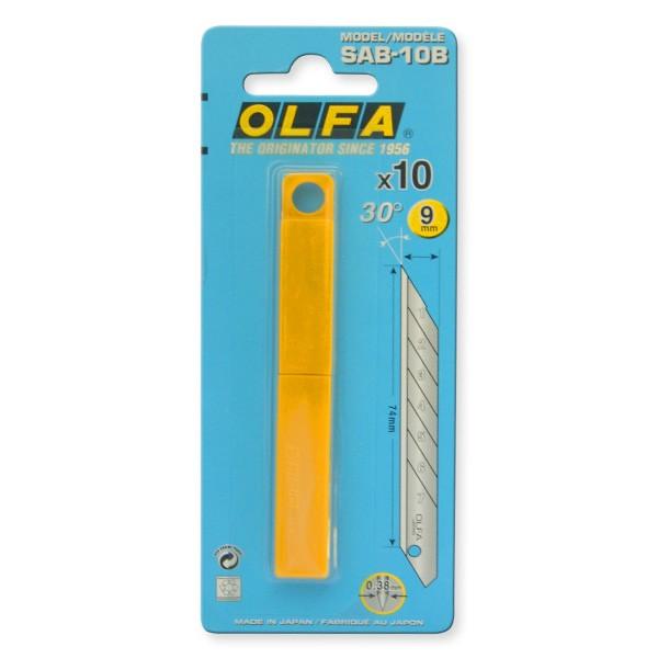 Olfa 10 Ersatzklingen in der Kunststoffbox SAB-10